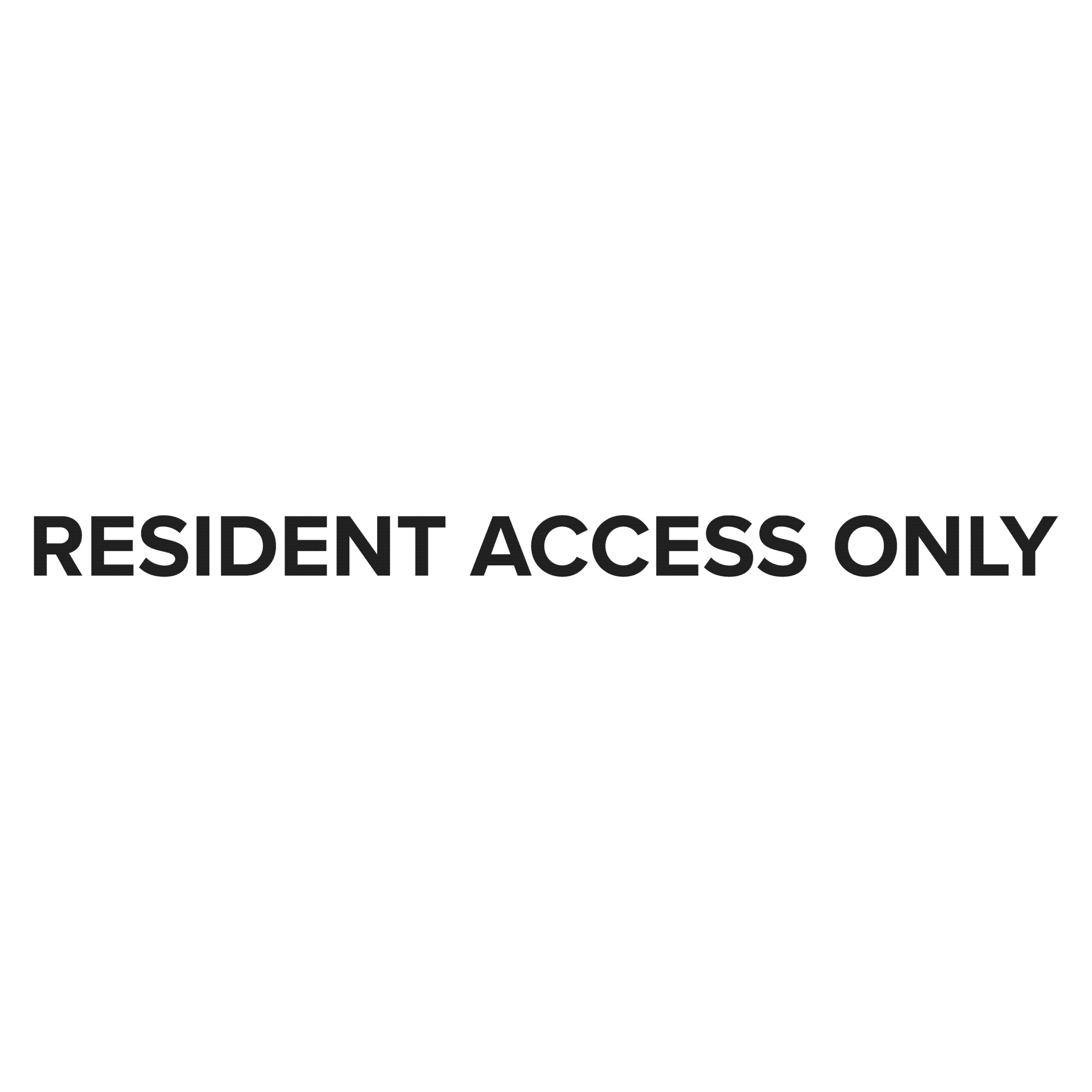 resident access only sign scaled